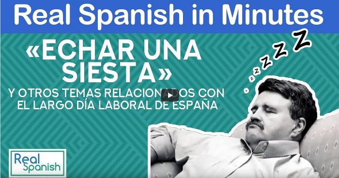 «Echar una siesta» y otros temas relacionados con el largo día laboral de España